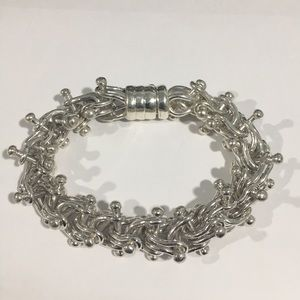 Other - Sterling Silver Vintage Thick Heavy Bracelet